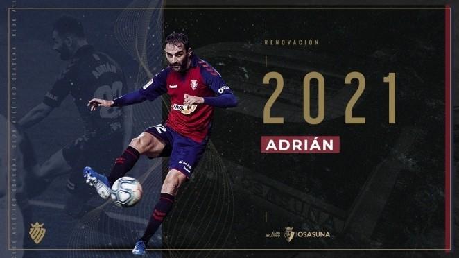 Con este cartel anunció el club la continuidad del asturiano