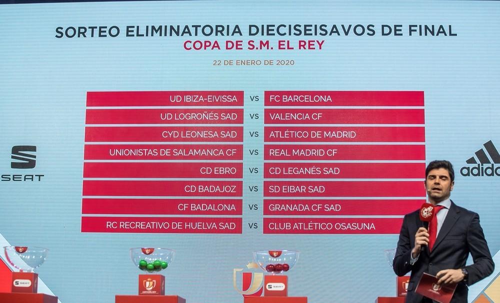 Ibiza-Barcelona y Unionistas-Real Madrid, en dieciseisavos