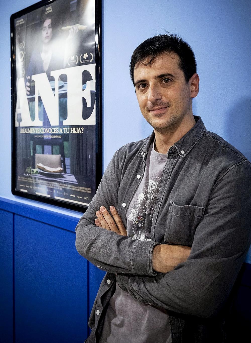 David Pérez Sañudo en los Van Golem de Burgos, en el estreno de 'Ane'.