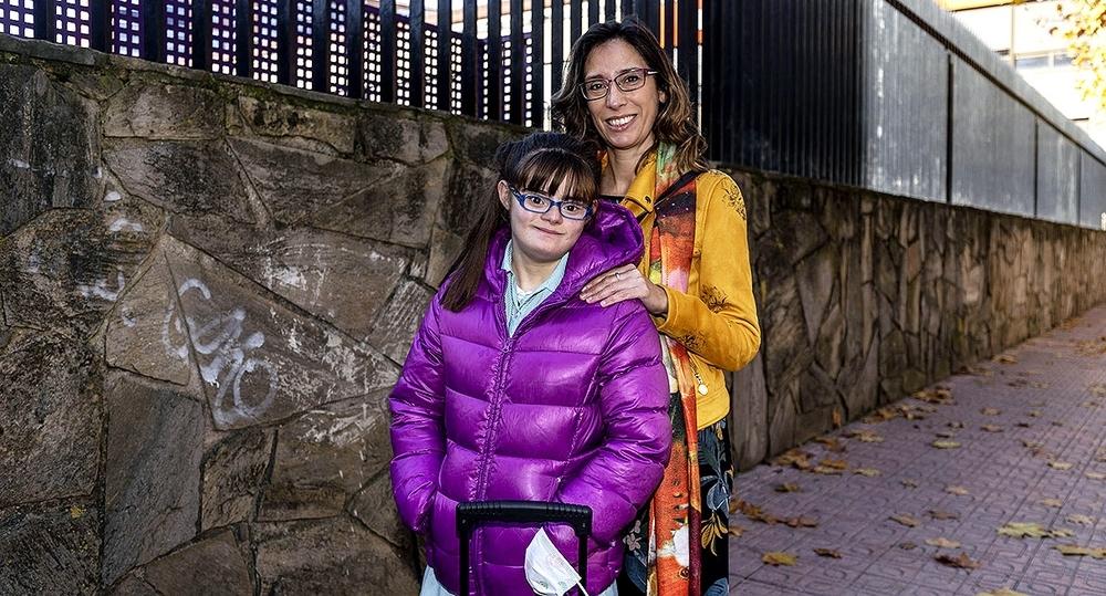 Belén Santamaría, madre de Aitana, con síndrome de Down.