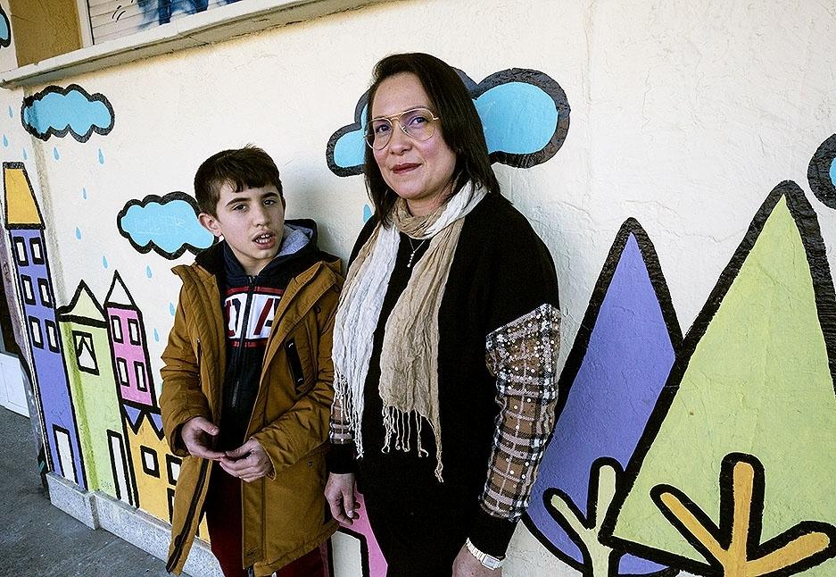 Claudia Sánchez, madre de Gonzalo, con trastorno del espectro autista.