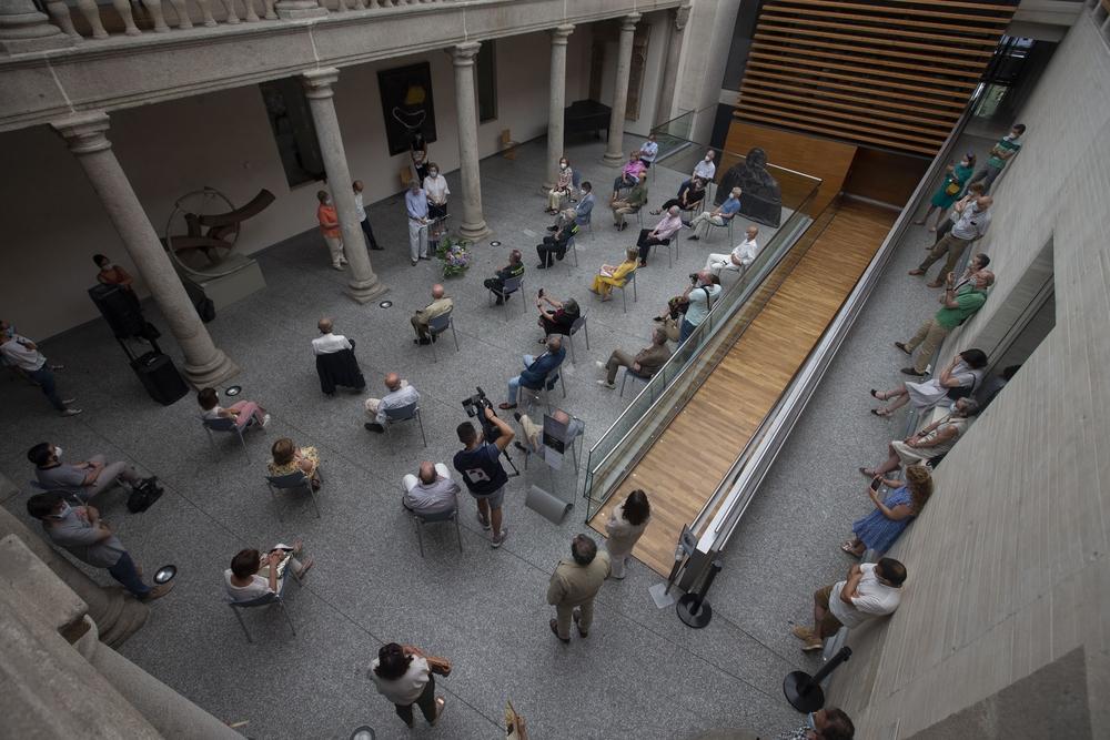 Inauguración de la exposición de Javier Paradinas.