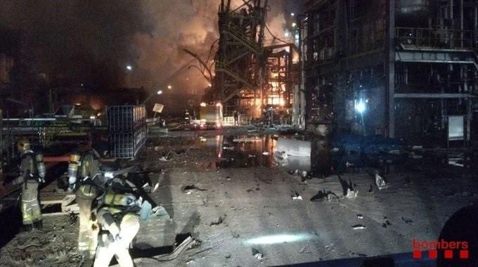 Un muerto en la explosión de una planta química en Tarragona