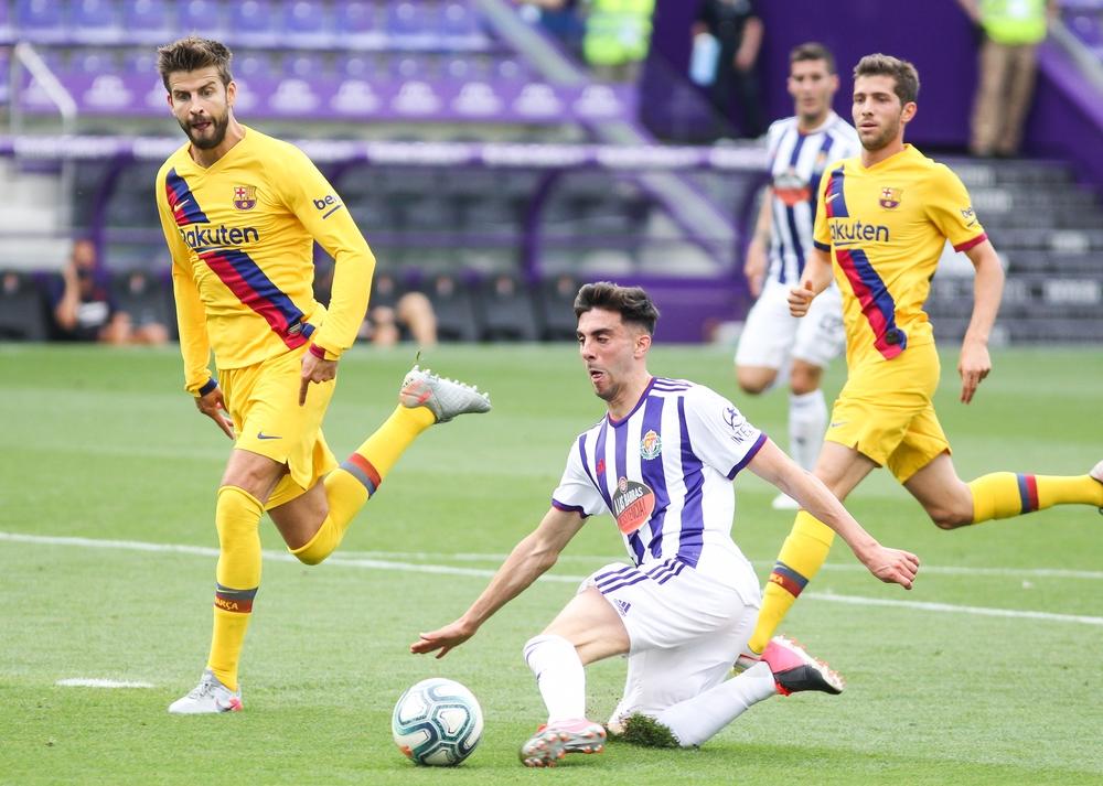 Encuentro entre el Real Valladolid y el Fútbol Club Barcelona.
