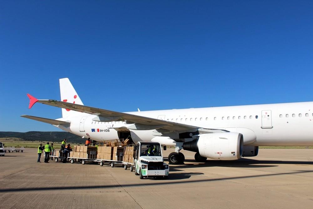 Ciudad Real recibe el primer vuelo del corredor sanitario
