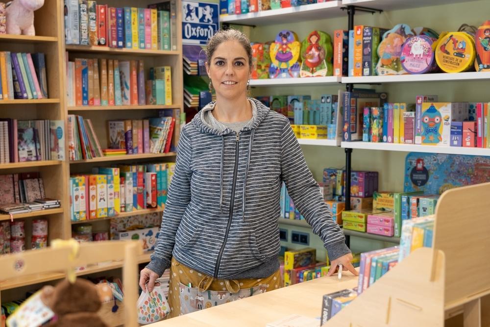 Andrea Álvarez, de la librería