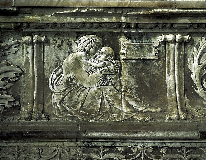 Alegoría de la caridad. Diego de Siloe, 1519.