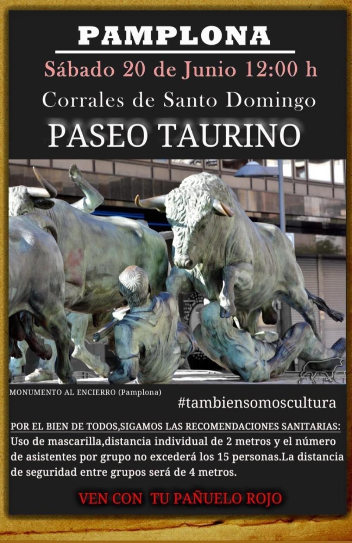 Concentración en forma de encierro por el sector taurino