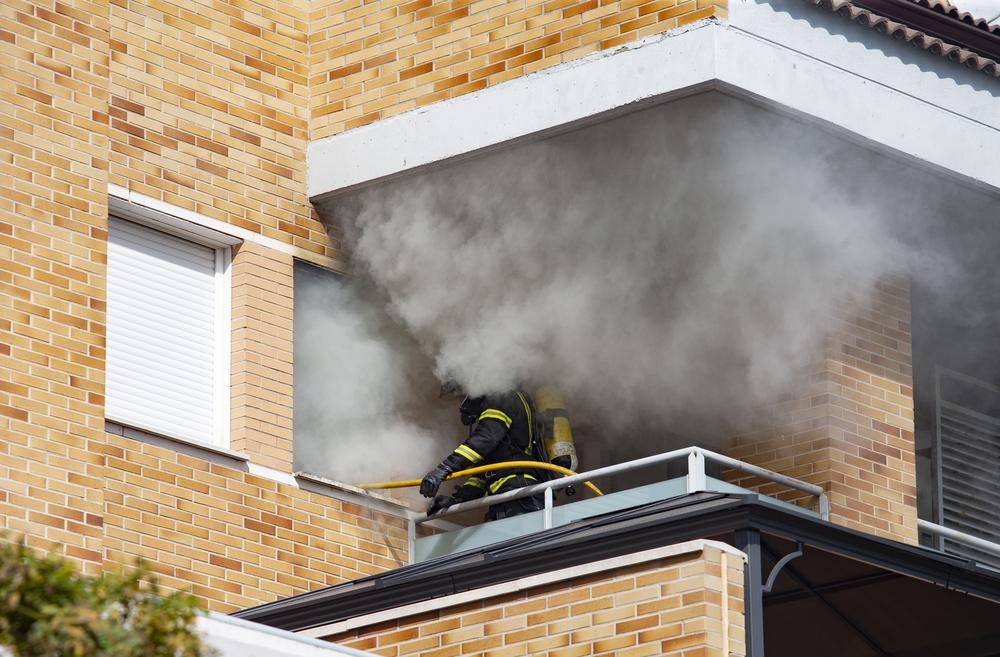 Incendio en una vivienda de la Calle Ciudad de Toledo.