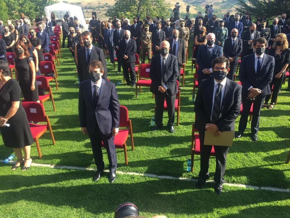 La Comunidad recuerda en Segovia a las víctimas de Covid19
