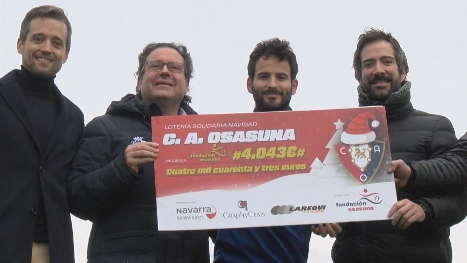 Récord de solidaridad con la lotería de Fundación Osasuna