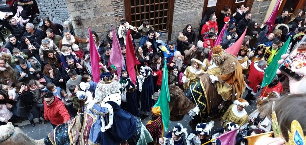 Los Reyes Magos ya están en Pamplona