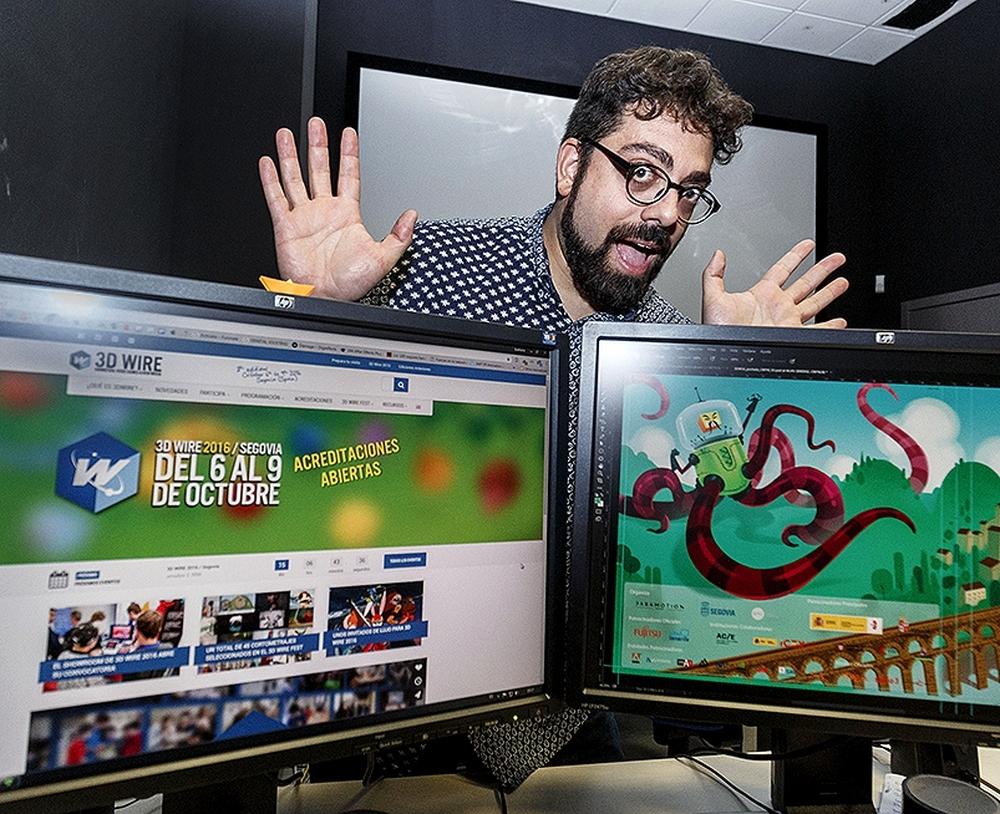 El director del Mercado 3DWire, el segoviano José Luis Farias.
