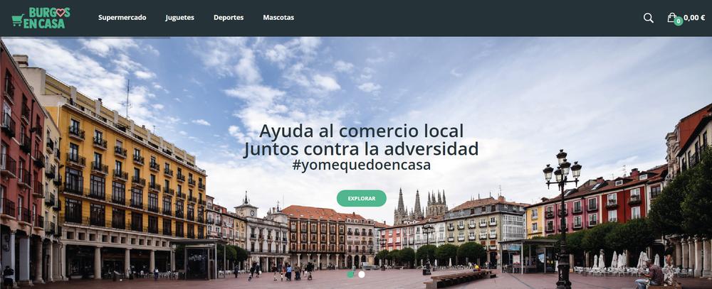 'BurgosEnCasa' para ayudar al comercio local y las familias