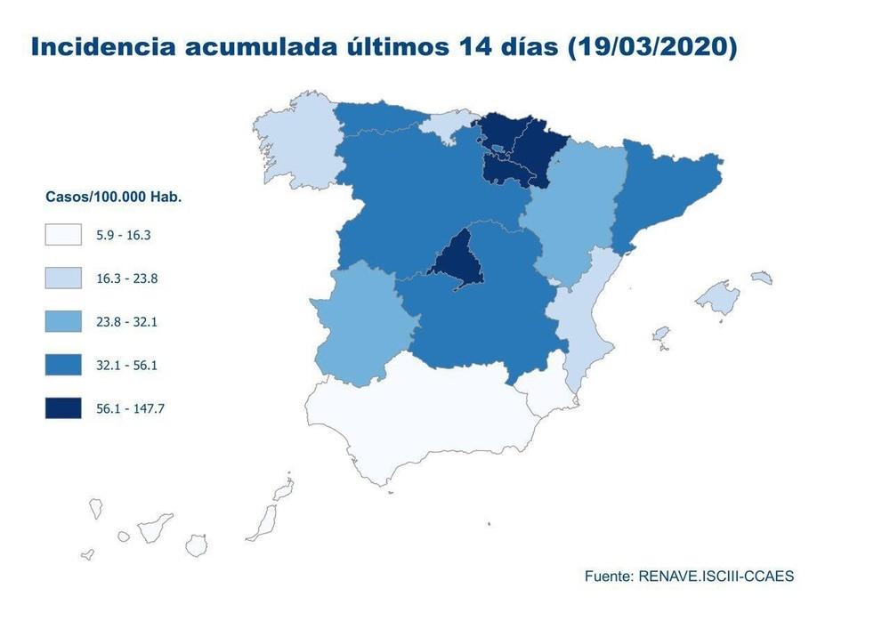 Navarra, una de las más afectadas: así evoluciona la curva