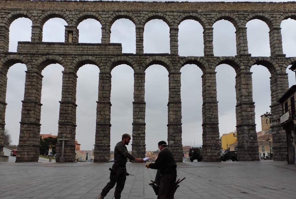 El Ejército apoya a la Policía en las calles de Segovia