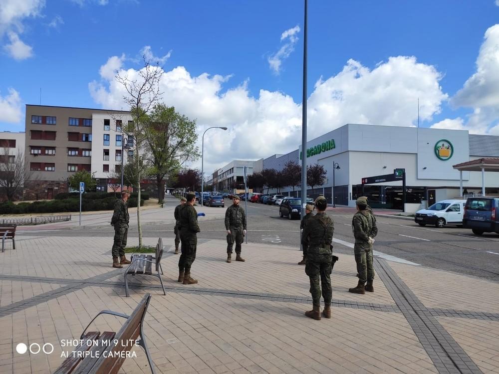 El Ejército mantiene labores de reconocimiento en Segovia