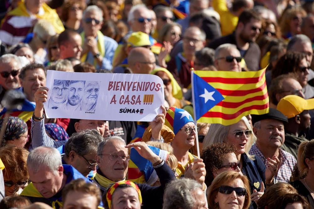 El expresidente Carles Puigdemont protagoniza un acto politico en Perpiñán