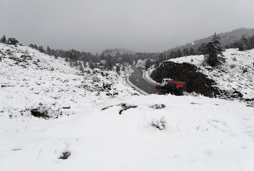 La nieve se adelanta: primeros copos en el pirineo navarro