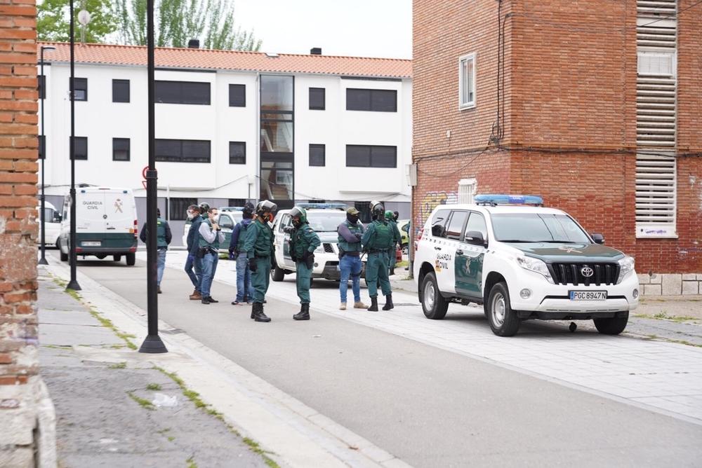 Operación de la Guardia Civil en Pajarillos para desarticular la banda del BMW.