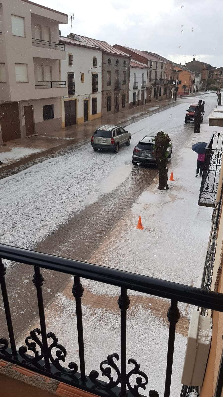 Una gran granizada cae en Villanueva de la Fuente y Ruidera