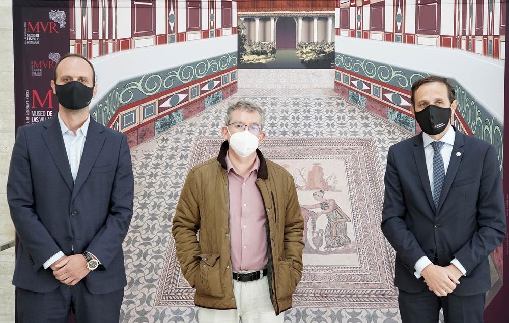 Visita al Museo de las Villas Romanas con motivo del rodaje 'El corazón del Imperio'