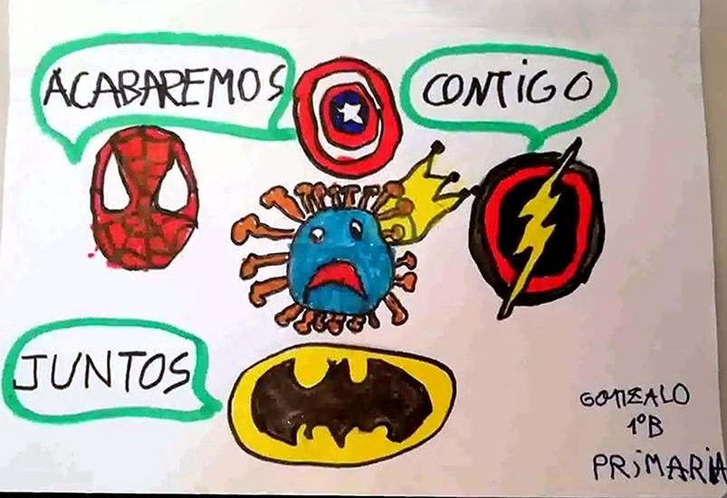 Gonzalo confía en que los superhéroes acaben con el coronavirus.