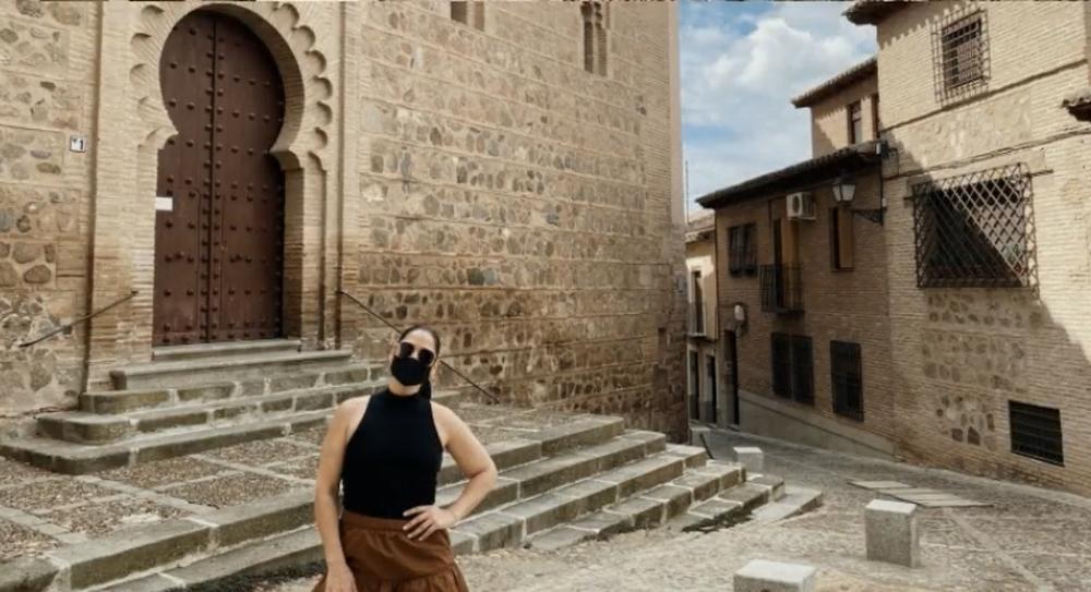 La cantante Rosa López, turismo y PCR en Toledo