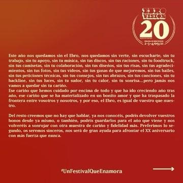 Ebrovisión suspende hasta 2021 su XX aniversario