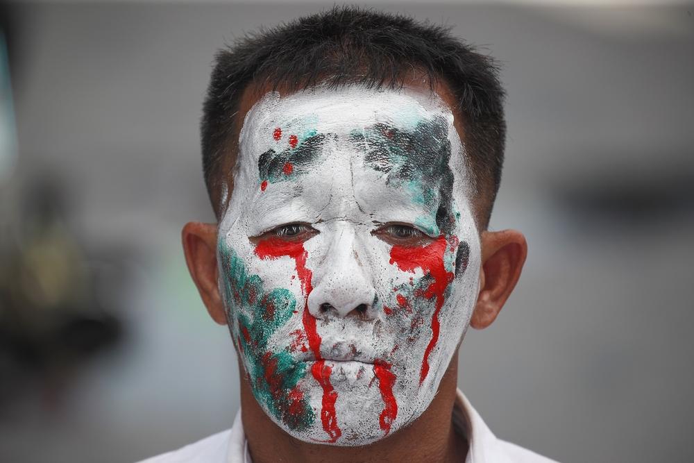 Protesta contra el gobierno en Bangkok