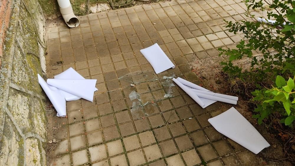 Denuncian actos vandálicos en el colegio de Fuenterrebollo