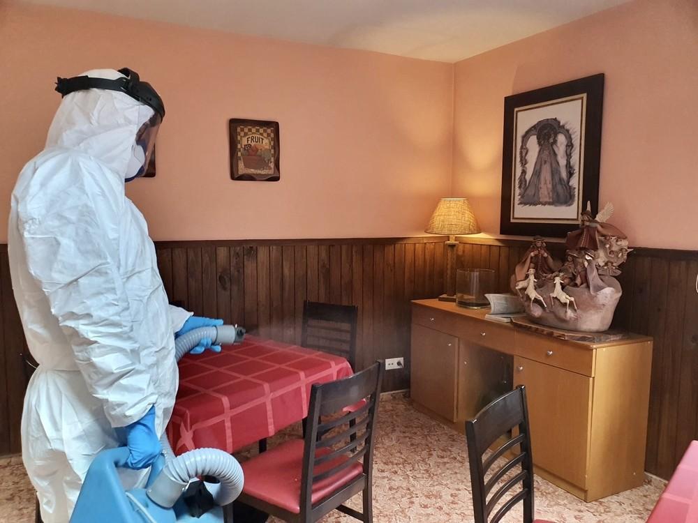 La Diputación prosigue la desinfección en la provincia