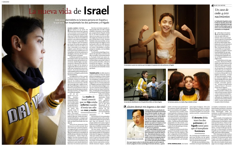 Publicación en La Tribuna sobre la operación a Israel García-Consuegra.