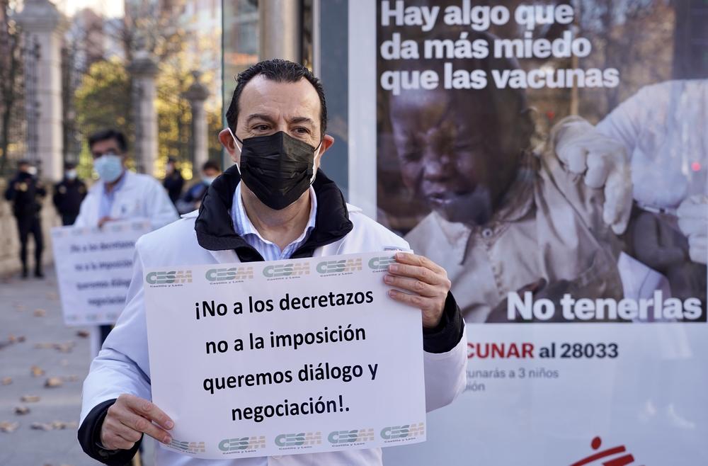 Los sindicatos de la Mesa Sectorial de Sanidad convocan concentraciones en defensa de los derechos de los trabajadores de Sacyl