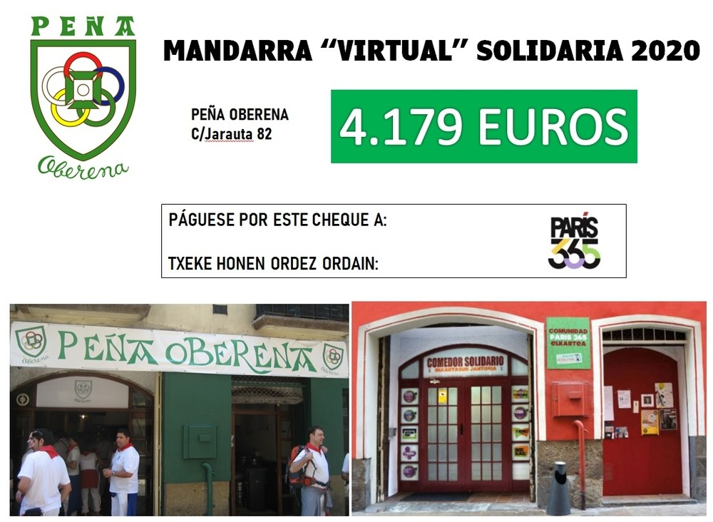 París365 recibe la Mandarra Virtual Solidaria