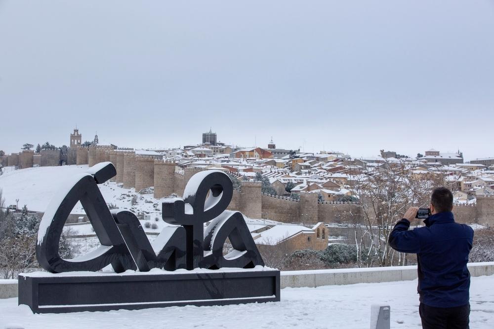 Nieve en Ávila.