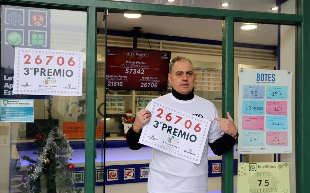 El tercer premio de El Niño deja 2,5 millones en Valladolid
