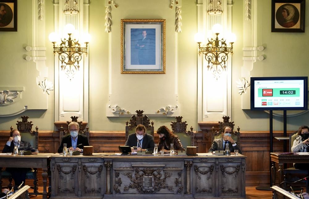 Pleno del Ayuntamiento de Valladolid para aprobar los presupuestos de 2021.