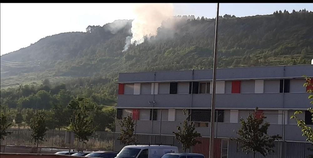 Declarado en estos momentos un incendio en el monte Ezcaba