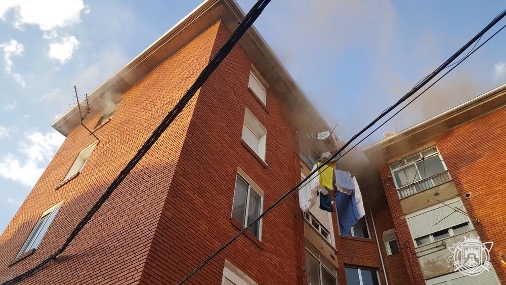 El incendio tuvo lugar en la calle Conde de Guadalhorce.