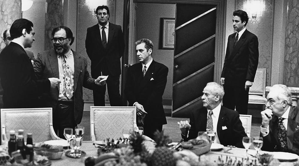 Coppola (2i), preparando la escena más espectacular del largometraje.