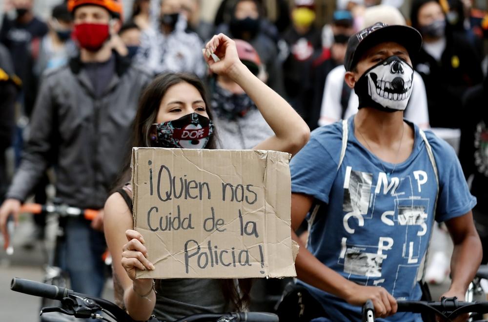 Segunda jornada de protestas contra la PolicÁa en Colombia