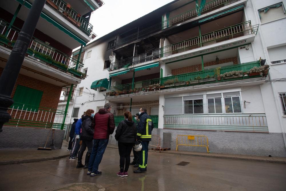 Explosión de gas en El Tiemblo.