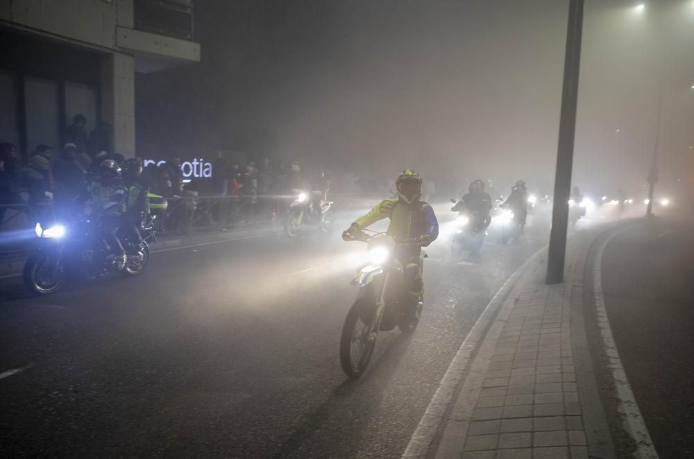 Pingüinos ilumina Valladolid con el desfile de antorchas