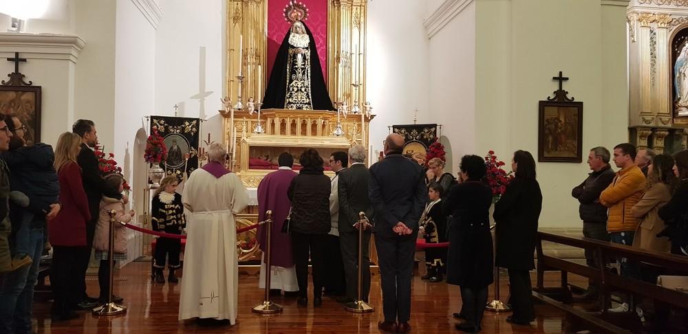 Bendición de altar del Santo Sepulcro y Virgen de la Soledad