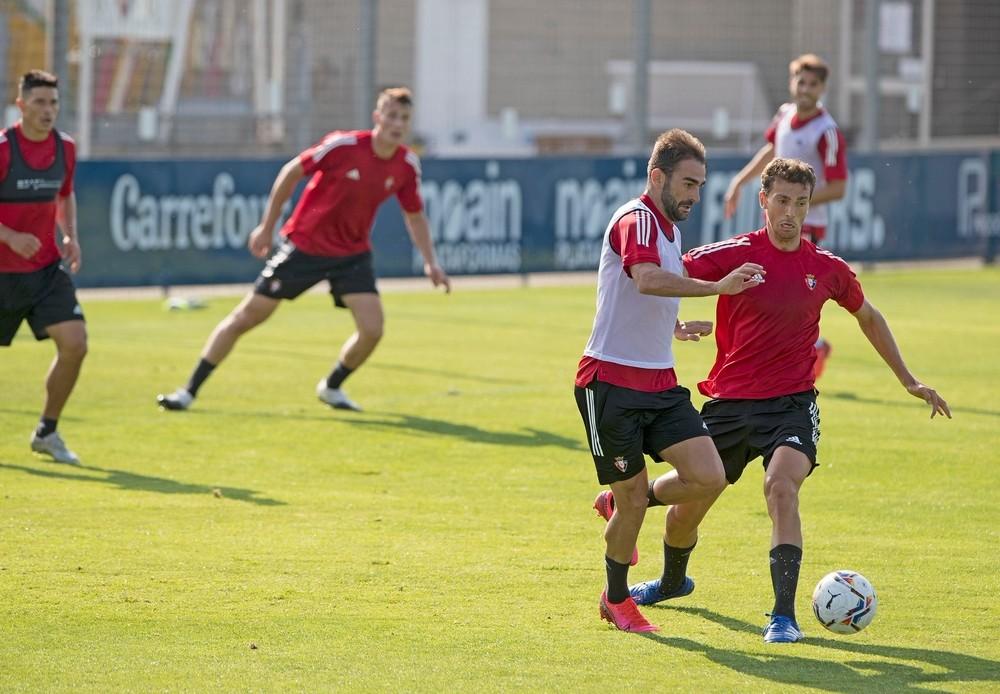Torró presiona a Adrián en el entrenamiento de este miércoles