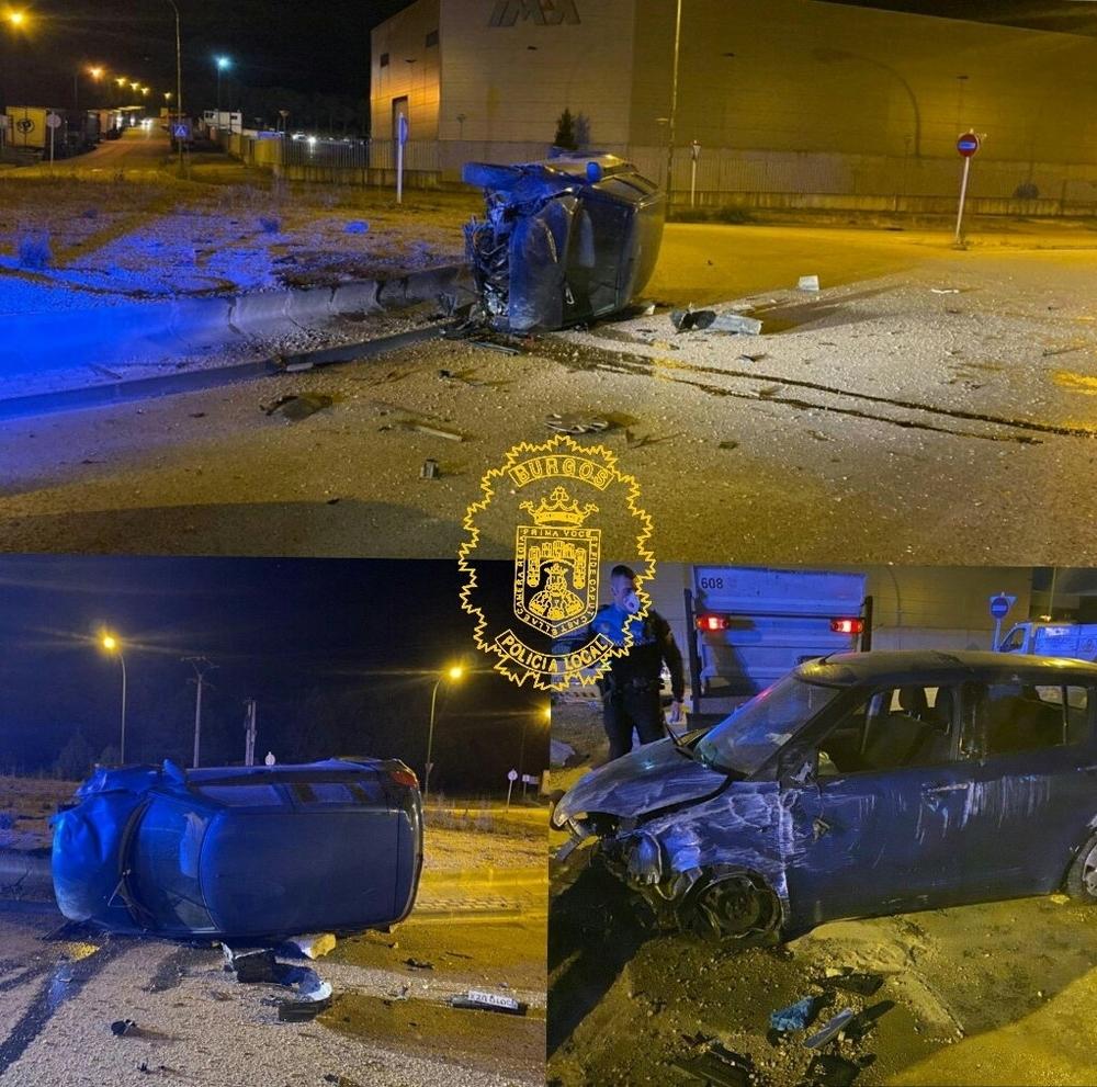 Más imágenes del aparatoso accidente sufrido por un trabajador del polígono.
