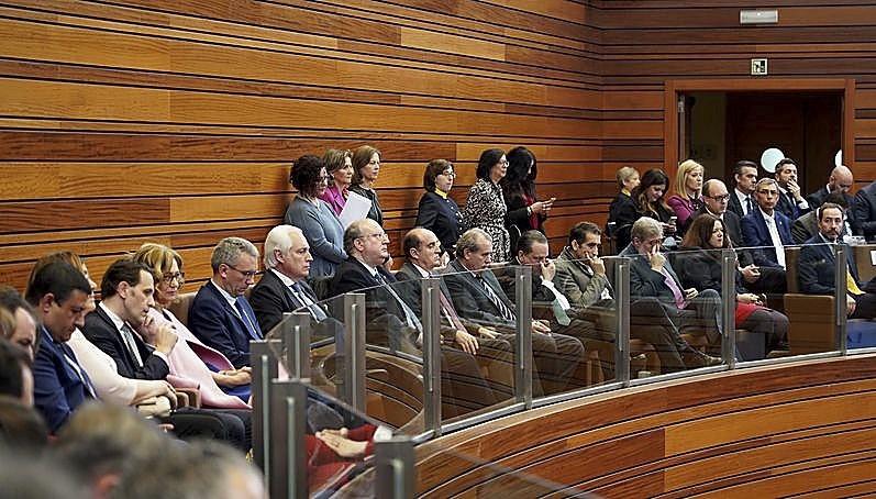 Autoridades e invitados del mundo judicial, sindical, económico, agrario.