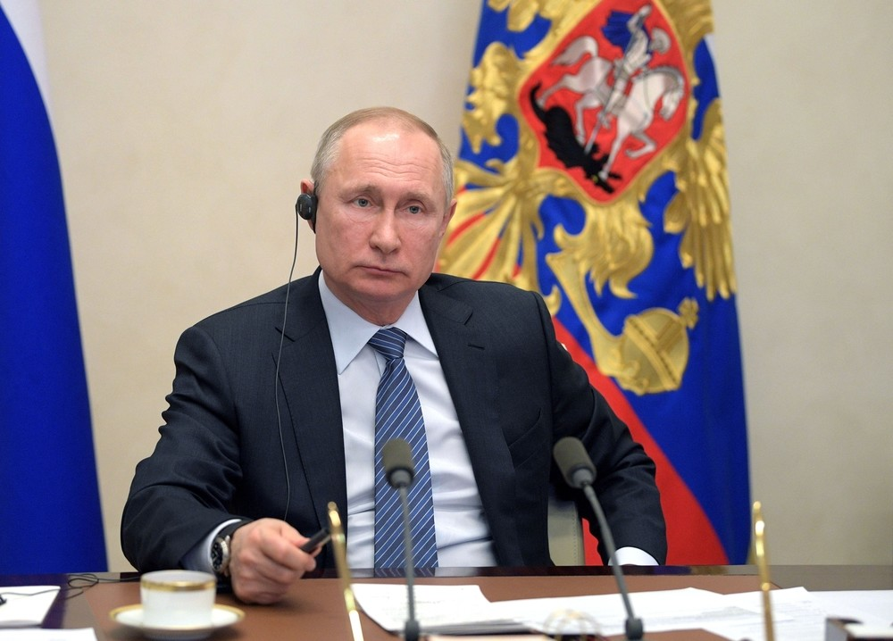 Vladimir Putin, desde el Kremlin.