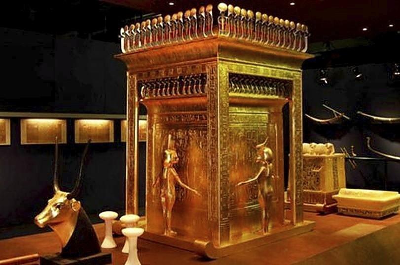 Una de las estancias reconstruidas en la exposición de Madrid sobre el faraón
